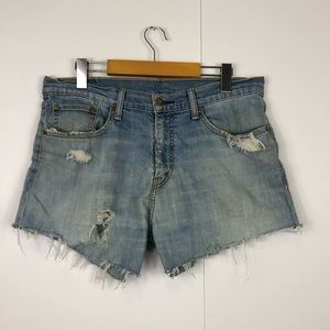Vintage Levi's Distressed Shorts Sz 32